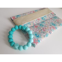 Duo Pochette liberty Aloha et bracelet de dentition