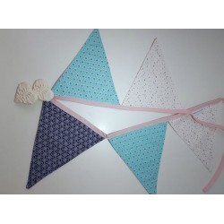 Guirlande de fanions origami étoilé